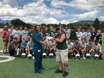 Donation to Flag High athletes