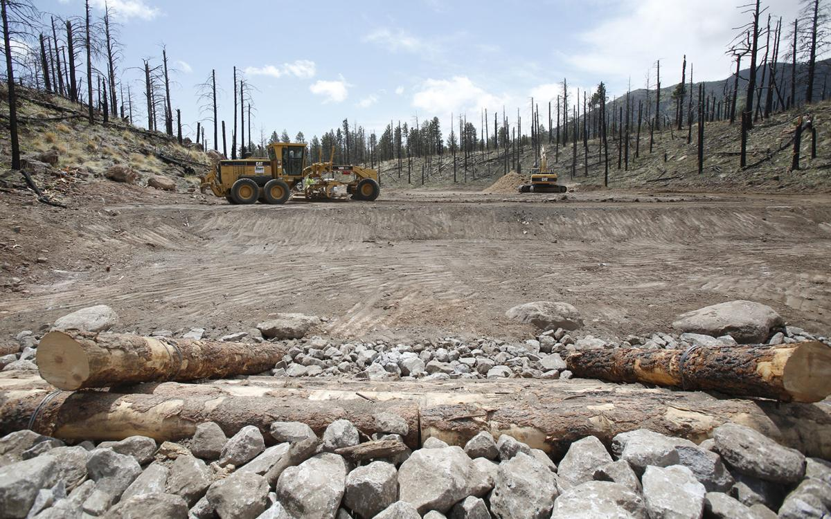 Schultz Recovery construction work, rocks