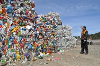 Recycling piles up