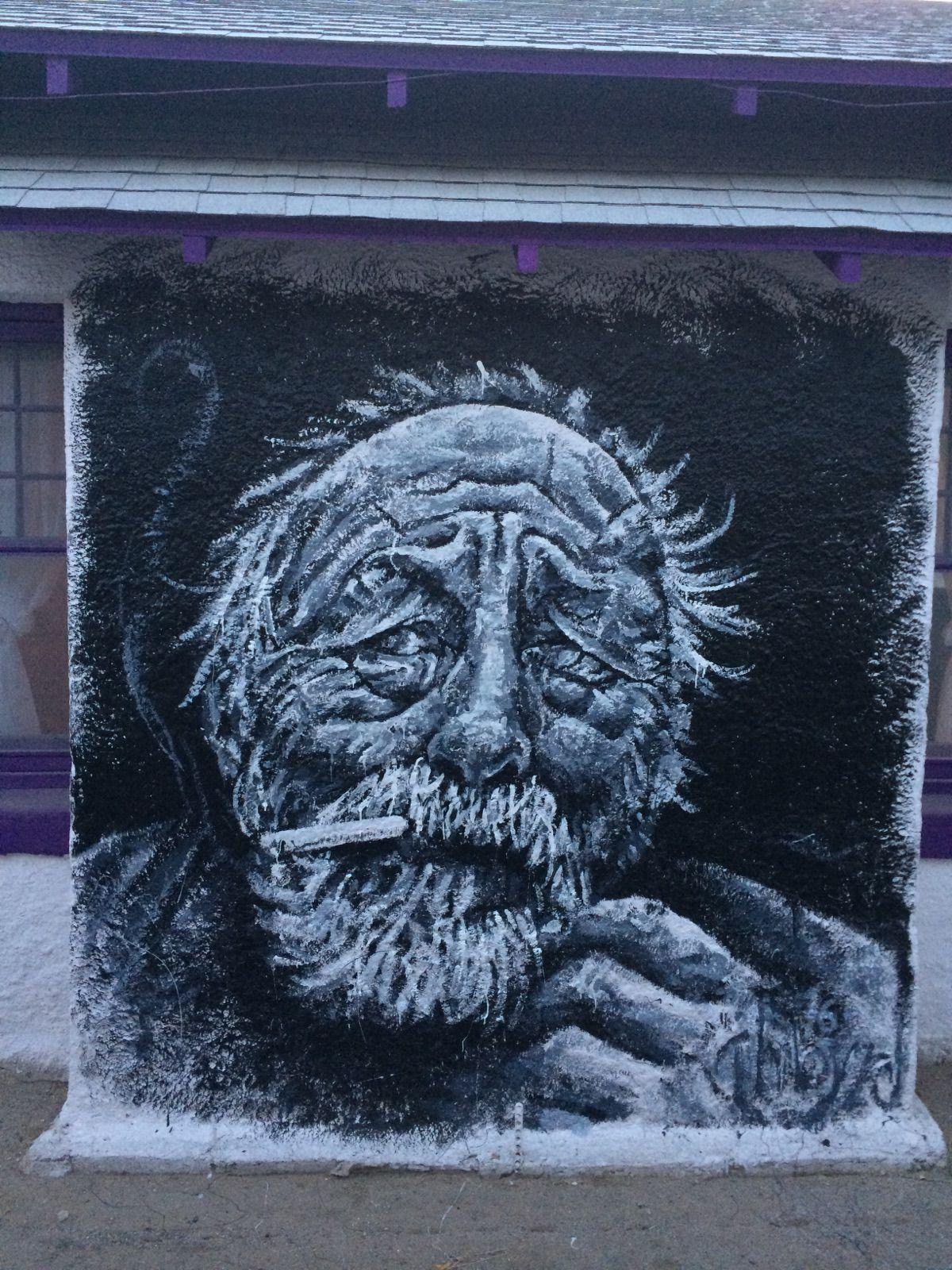 Jim Harrison mural on the wall of NABF Executive Director Jesse Sensibar's Tucson Home. Image courtesy of Jesse Sensibar.