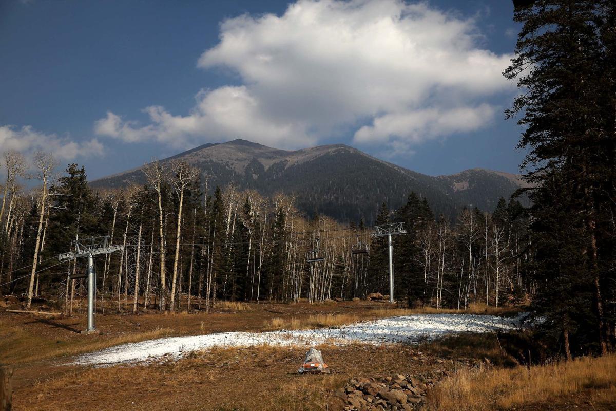 Snowbowl bare slopes