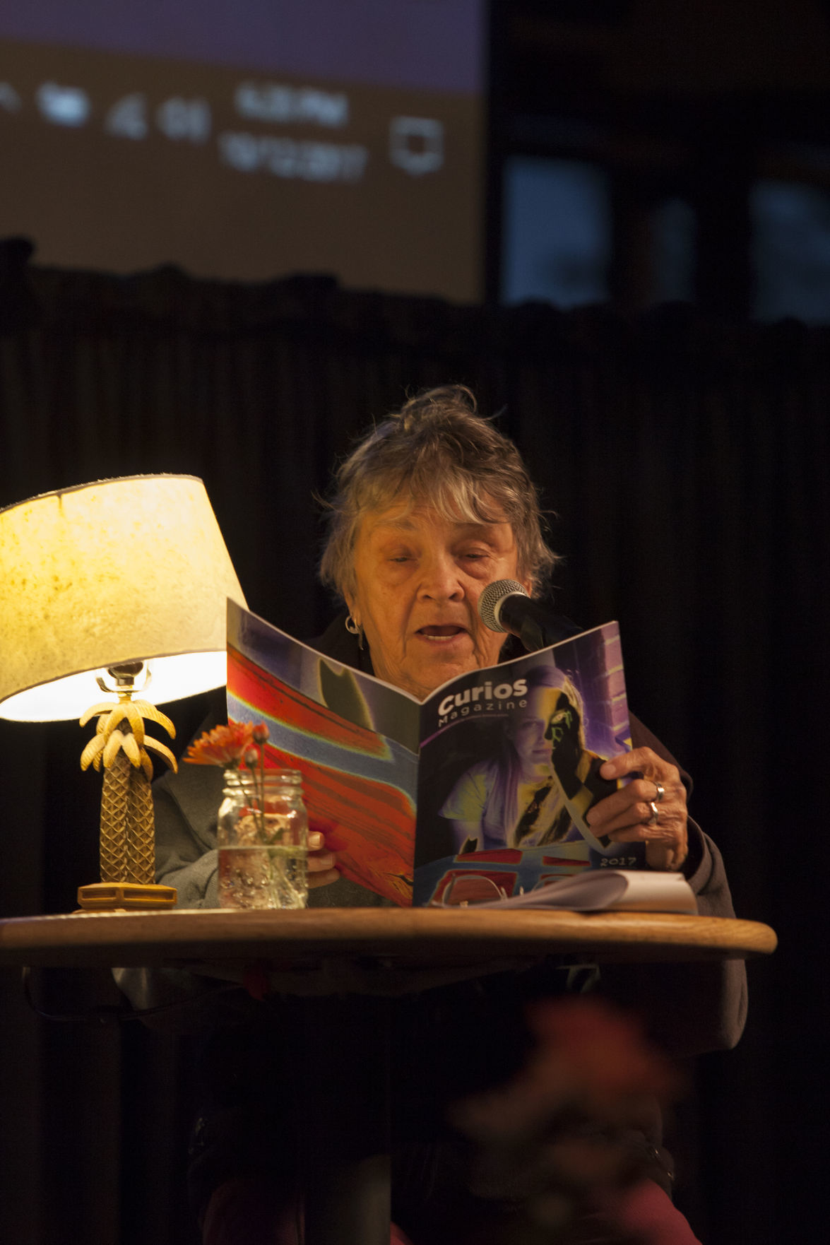 Author Mary Sojourner reading from 'Curios' during last year's book fest event at CCC. Photos by Larry Hendricks.jpg