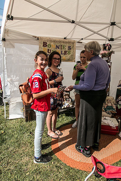 LFH-Bonnie, my mother and her young fan base at her handmade doll booth. Photo by Lew Watters.jpg