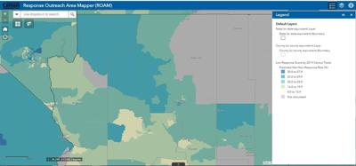 Predicted census non-response rates in Coconino County
