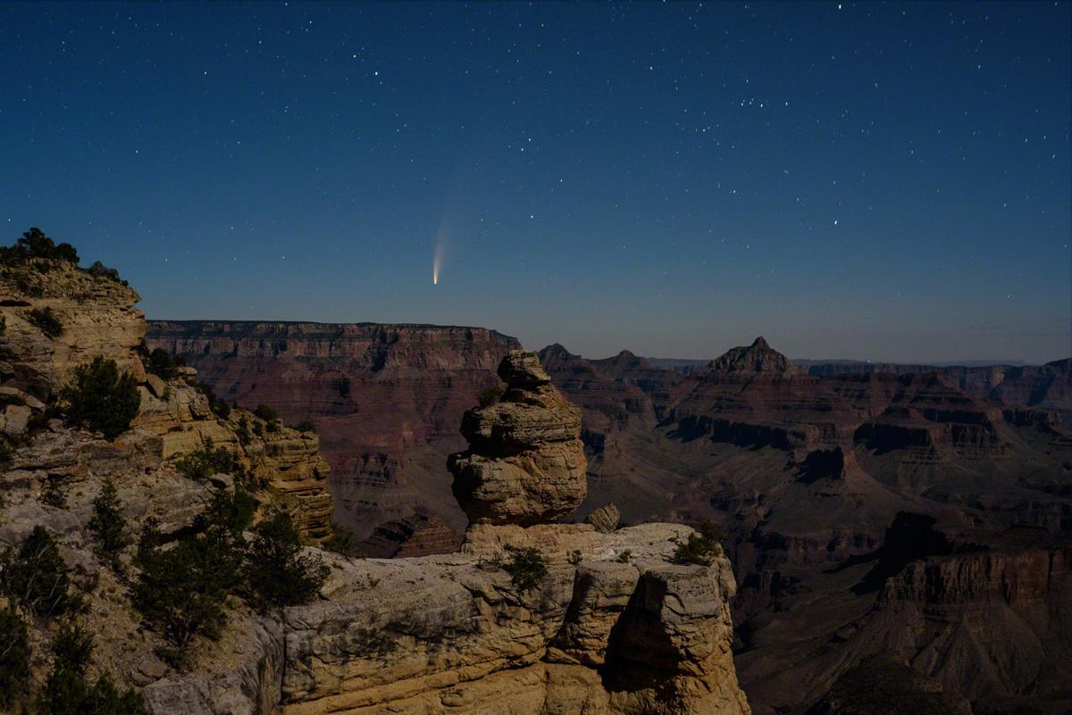 Blanchard comet grand canyon