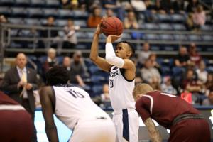 Montana misses free throws late, NAU men's hoops upsets visiting Grizzlies 57-56 at home