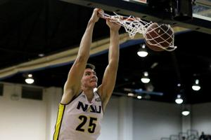 Newcomers lead the way as NAU men's hoops wins opener, 97-82