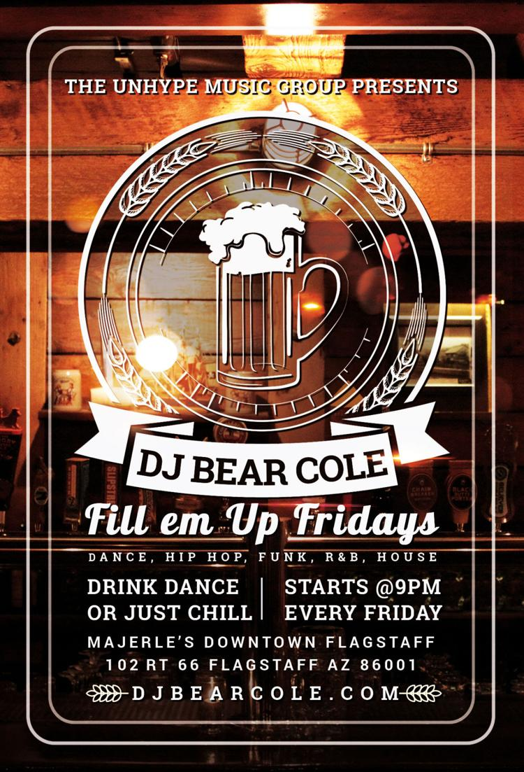 Fill em Up Fridays Flyer DJ Bear Cole