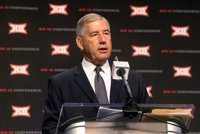 Big 12 commissioner Bob Bowlsby speaks during Big 12 media days at AT&T Stadium in Arlington, Texas, on July 15, 2019.