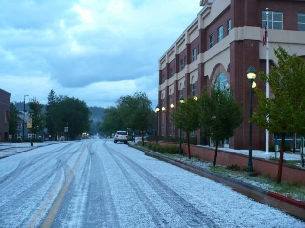 Cherry Avenue hail