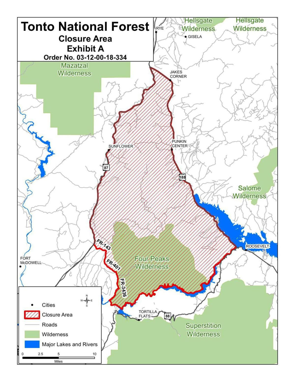 Tonto Closure Map 2 | | azdailysun.com