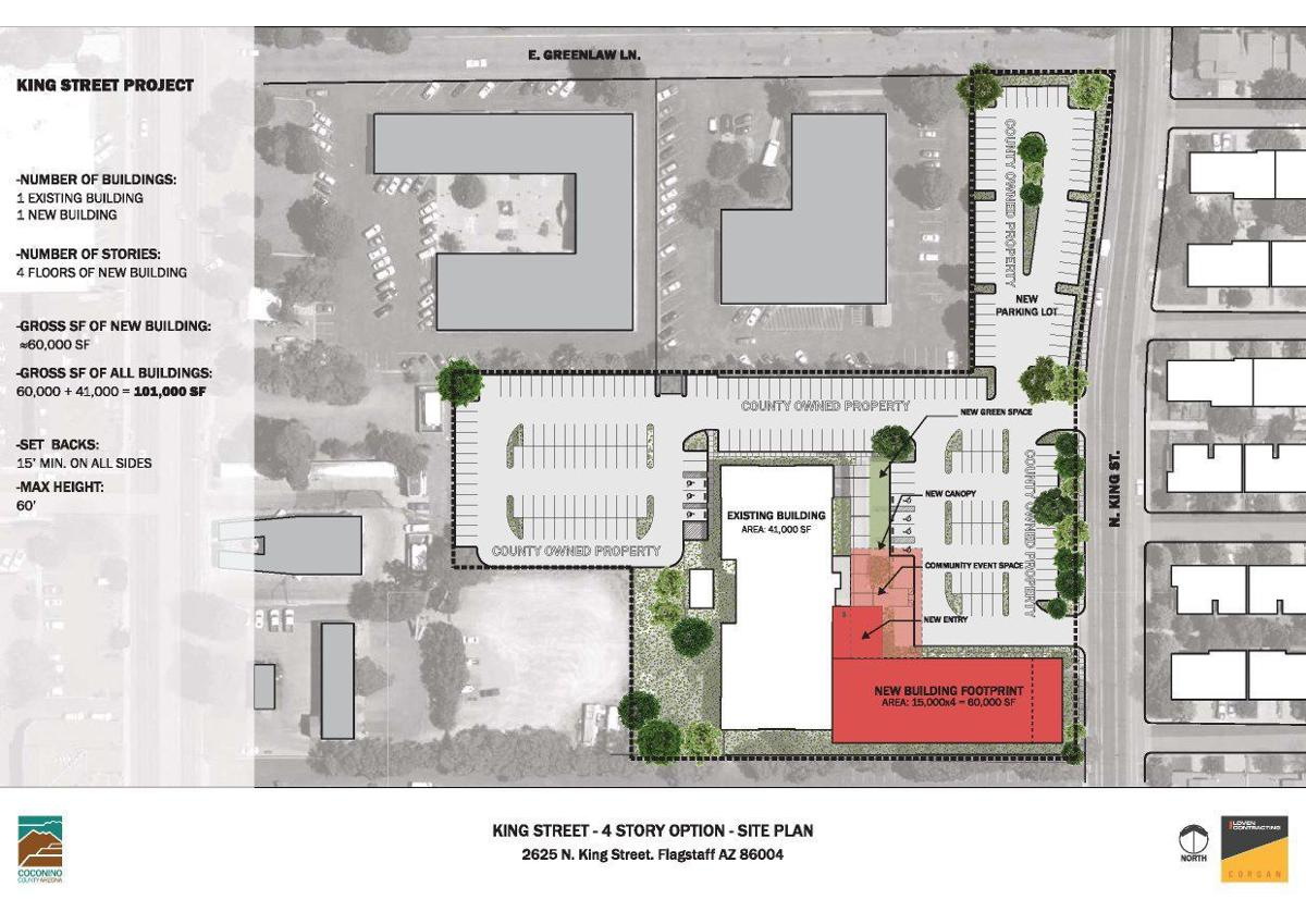 County HHS 4 Story Site Plan