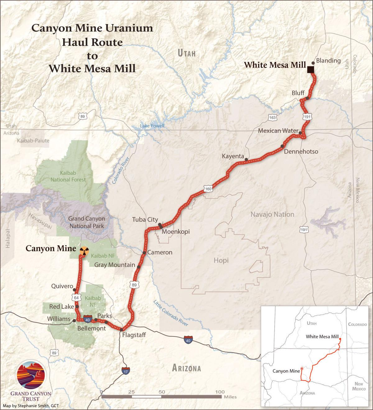 Canyon mine haul route