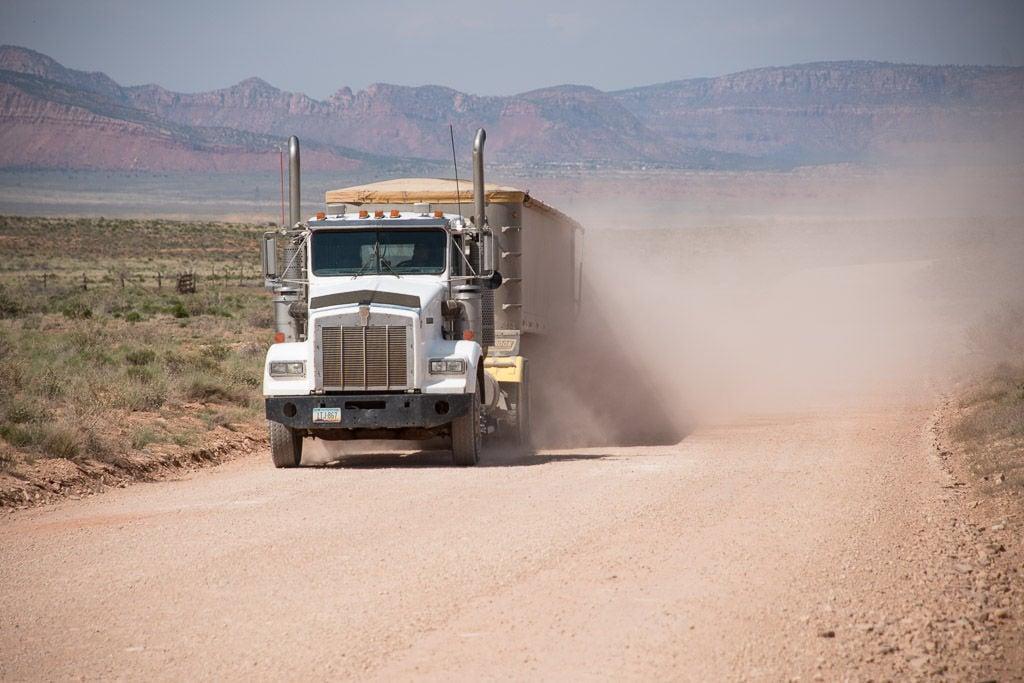 Uranium truck