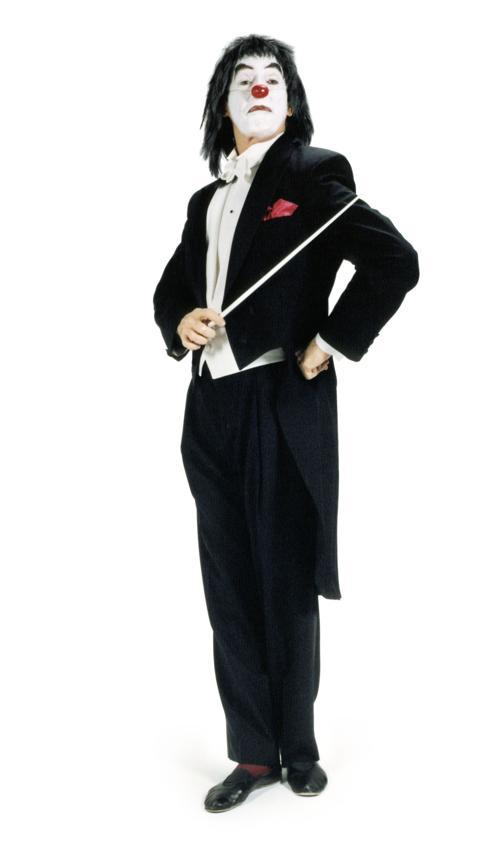 Dan Kamin's Classical Clown character. Photos courtesy of the artist.