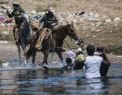 APTOPIX Mexico Border Migrant Camp