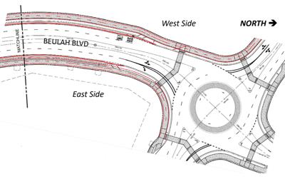 Beulah/University roundabout plans