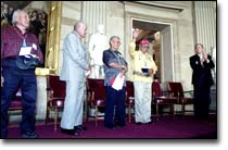 Bush awards Congressional Gold Medals to Navajo Code Talkers