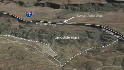 Sunset Point Landslide Scarp