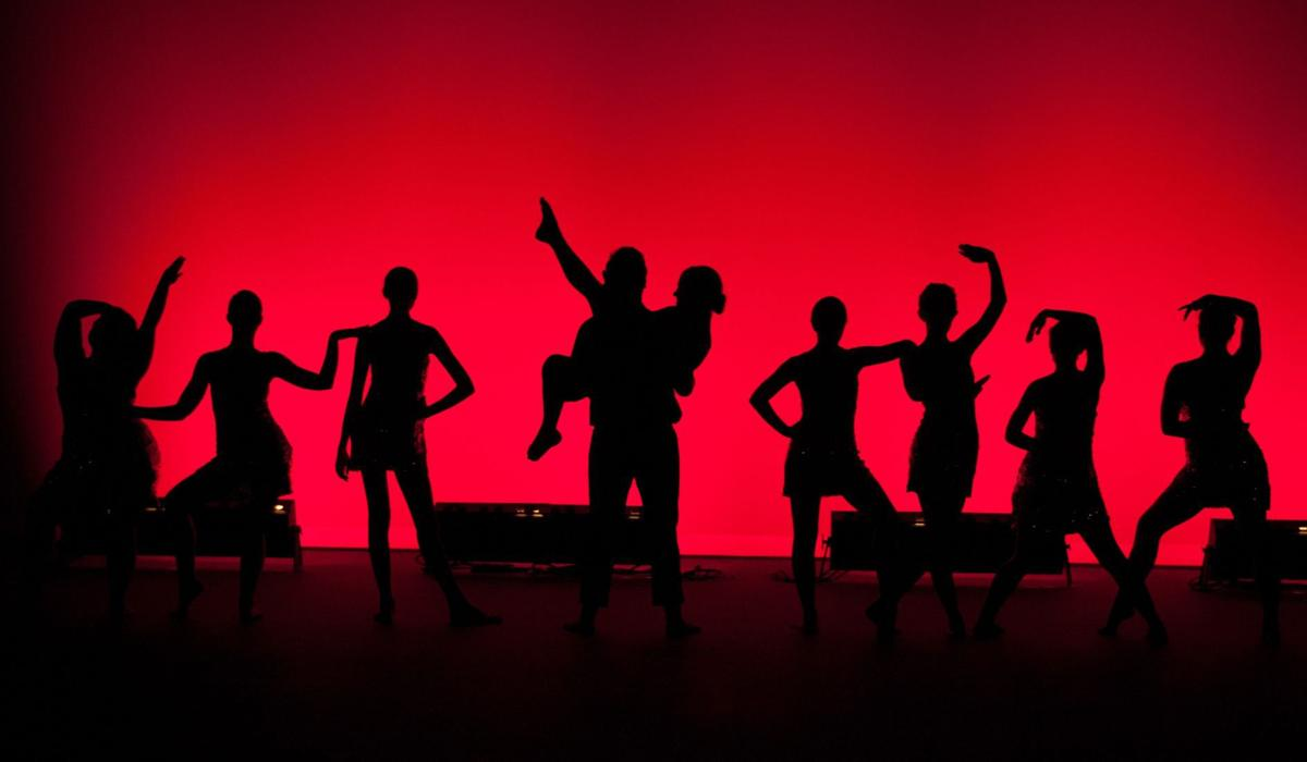 A silhouette image from last year's Spring Dance Festival. Photo by Scott Sawer.