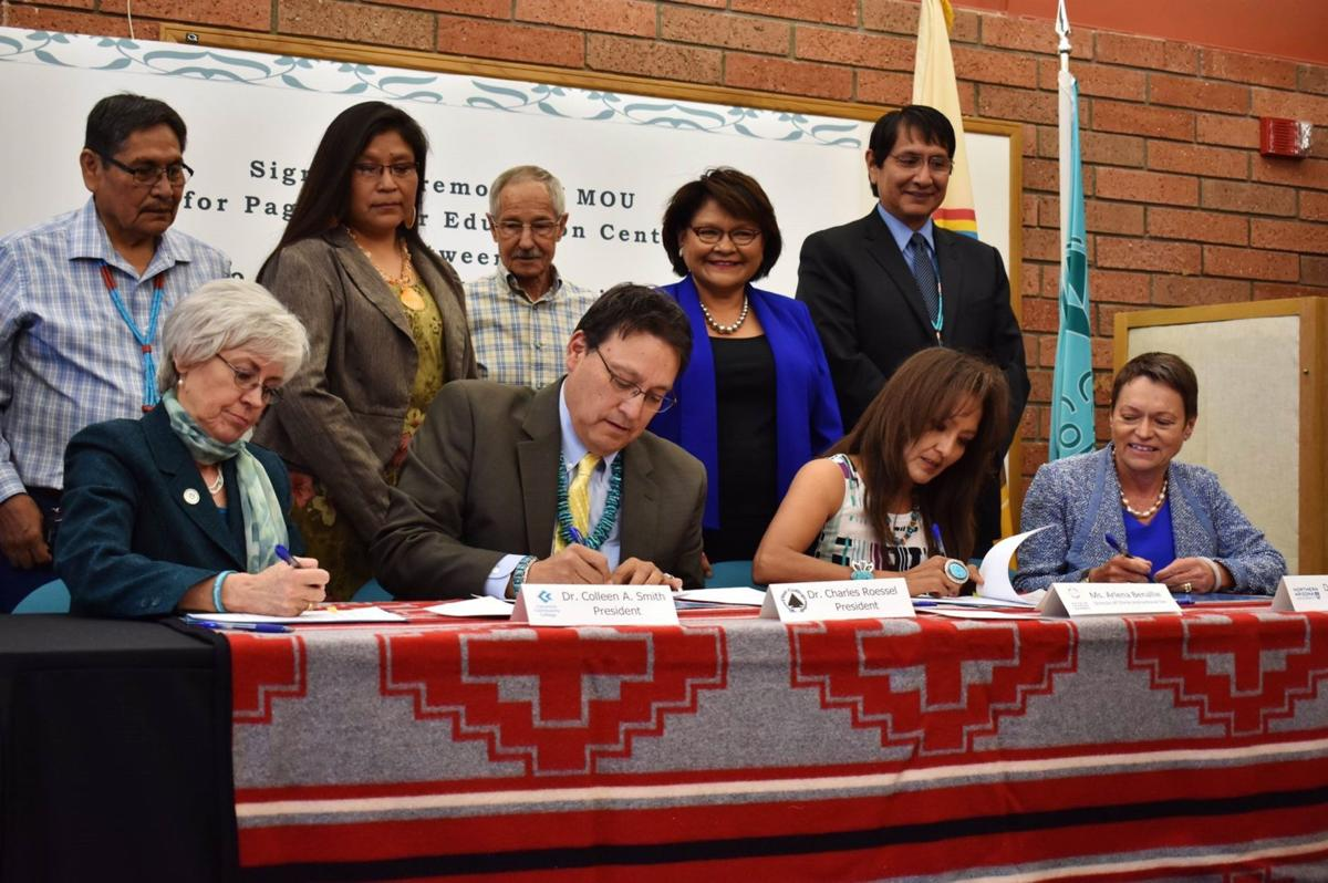Page higher education center MOU signing