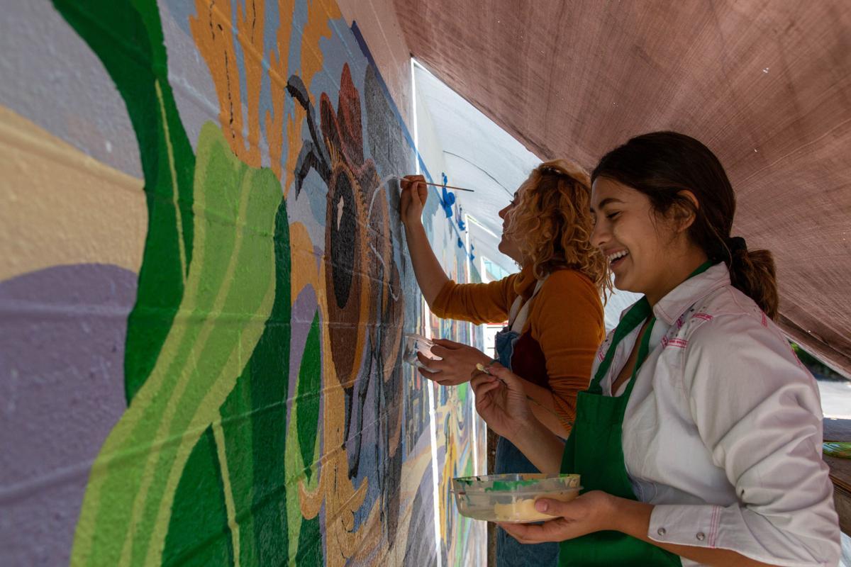 Flagstaff high mural
