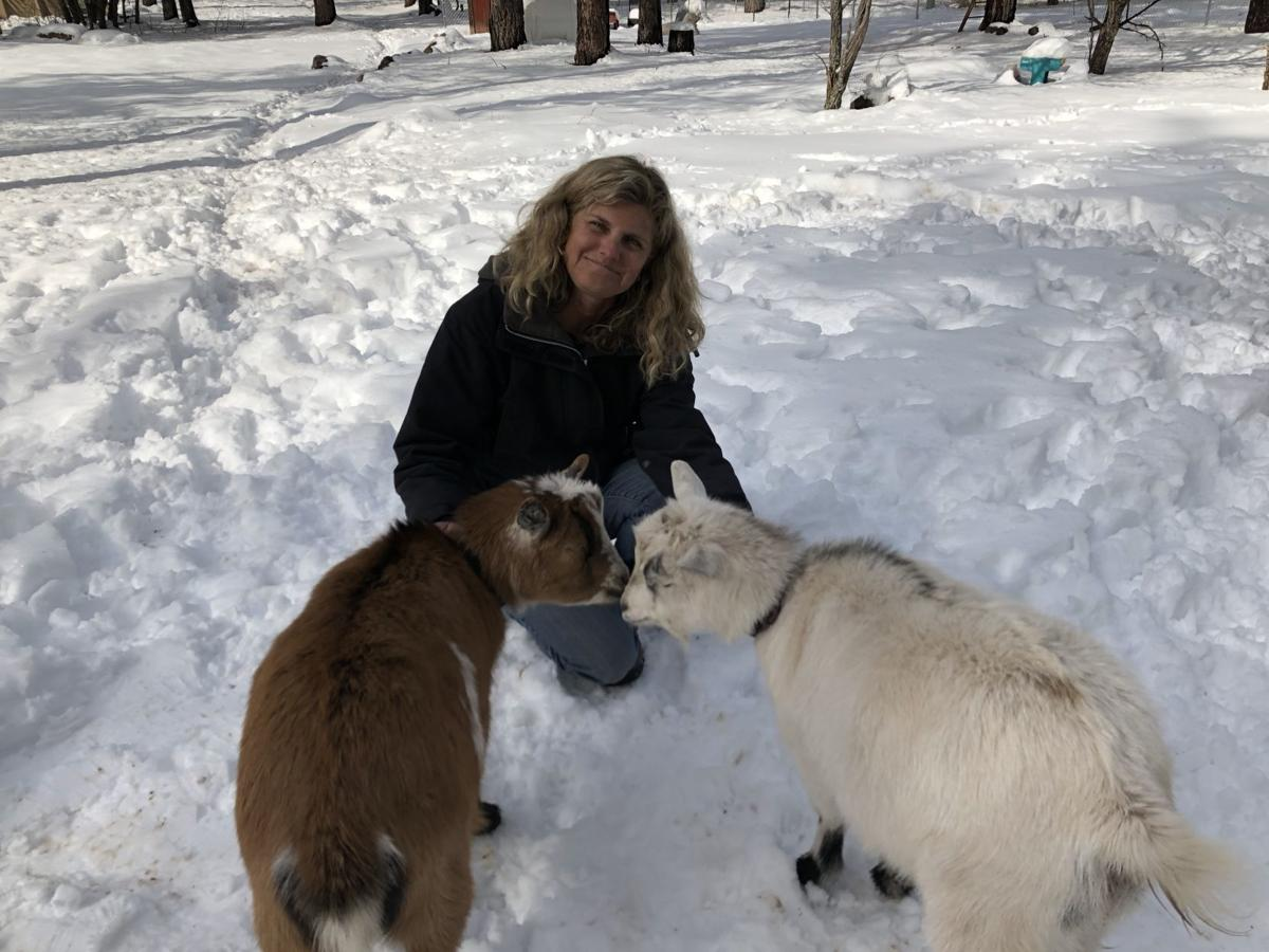nancy and goats
