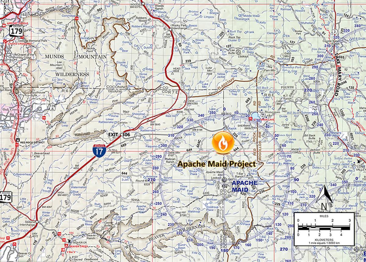 Coconino National Forest prescribed burn
