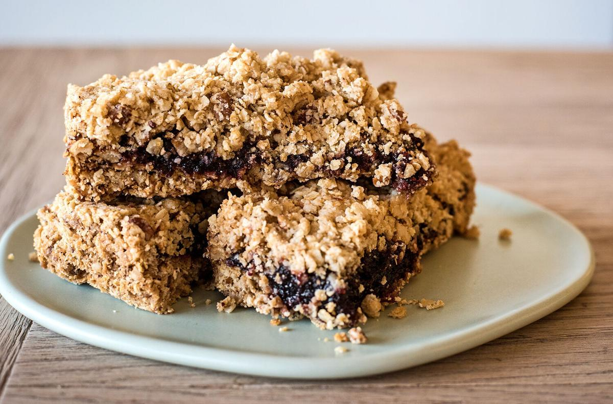 Jam crumble bars