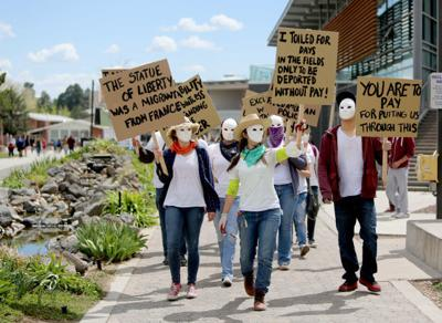 April 20, 2015: Protesting for migrant farm workers