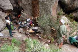 Mount Elden cave dweller evicted
