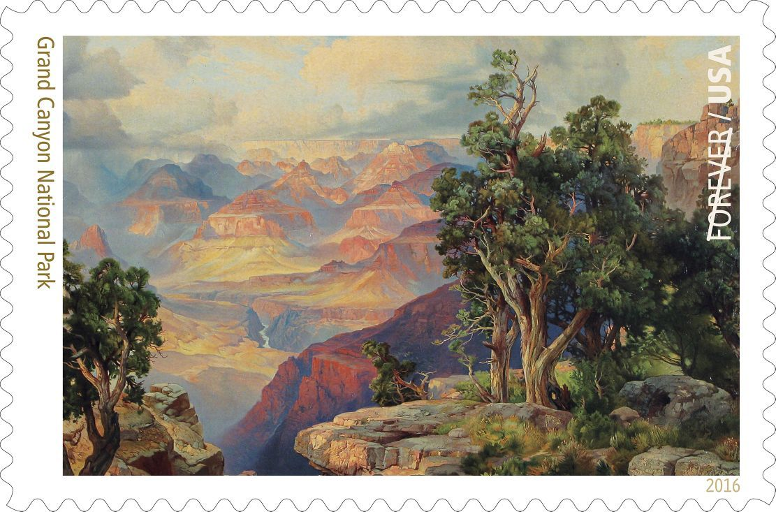 Grand Canyon National Park postal stamp