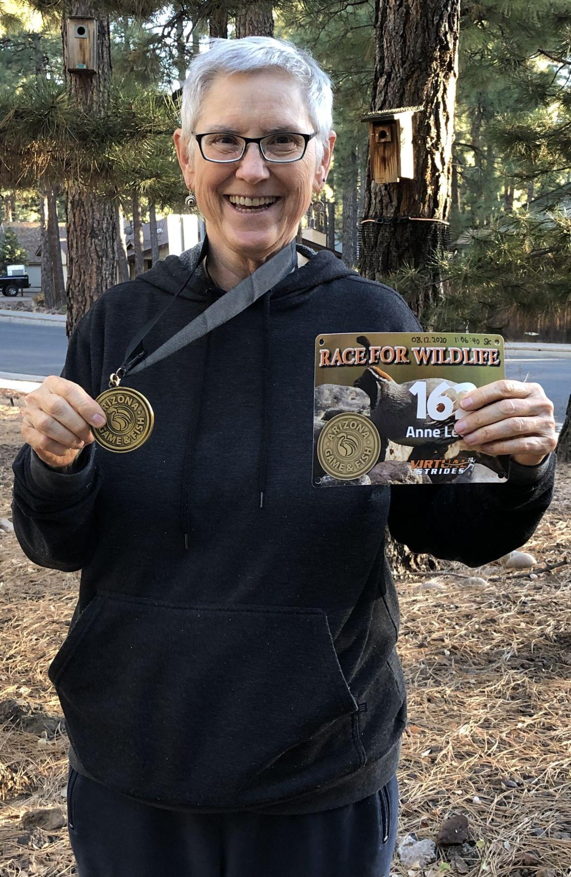 Anne Leota Hart virtual 5K finish