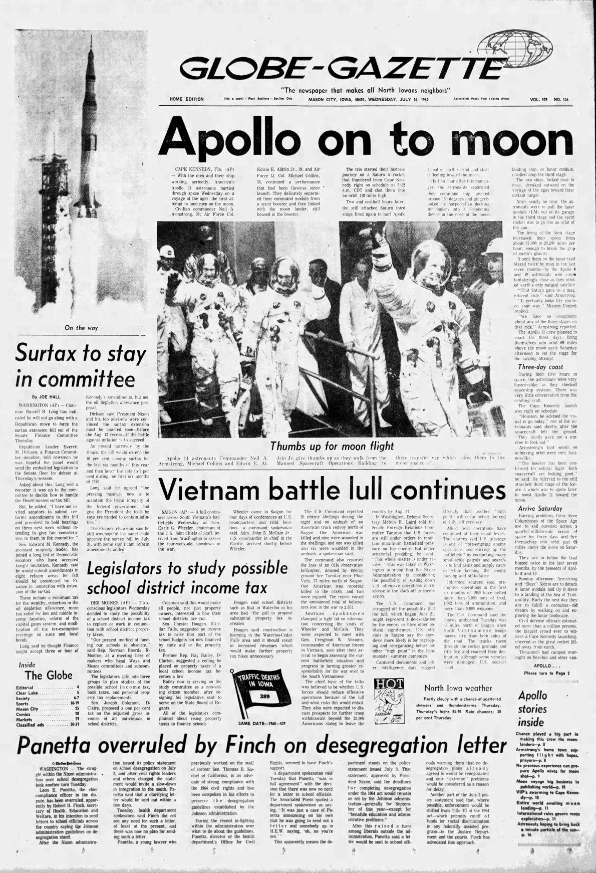 Headlines: Apollo 11 Launch | Archives | azdailysun com
