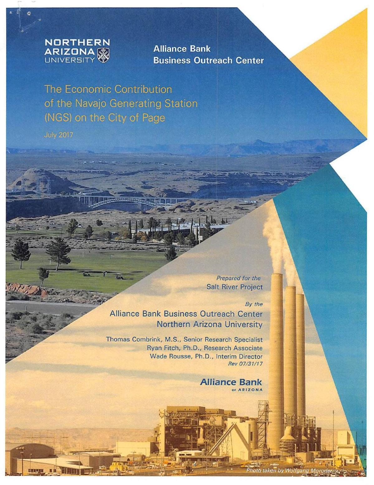 The Economic Contribution of the Navajo Generating Station on the City of Page