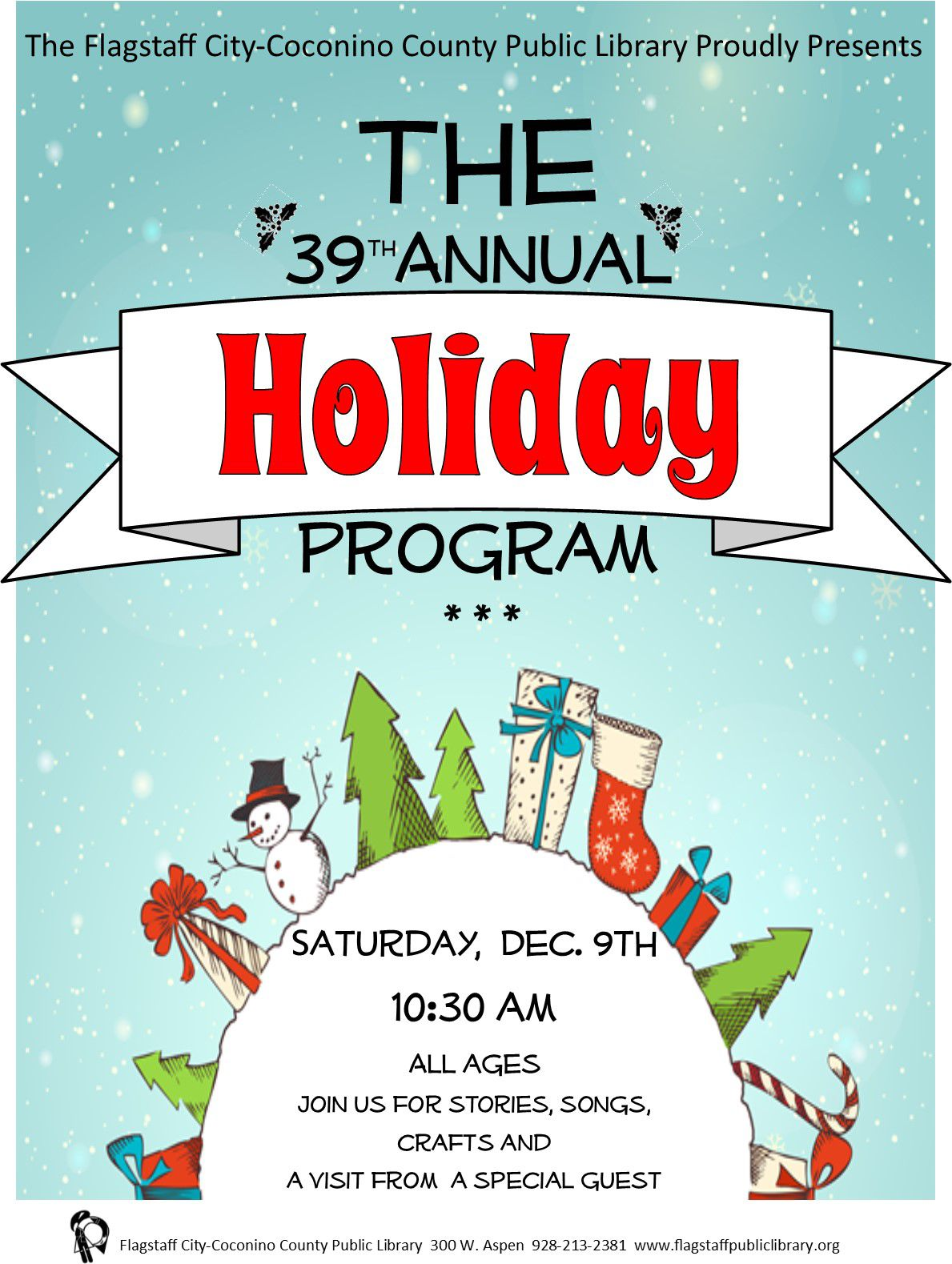Library Holiday Program Flyer
