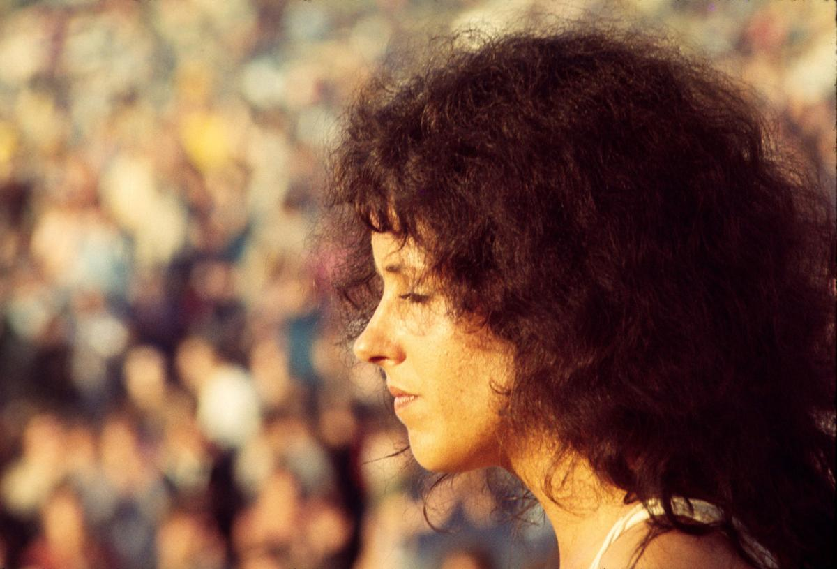 Grace Slick (Jefferson Airplane) Performing at Woodstock August 1969