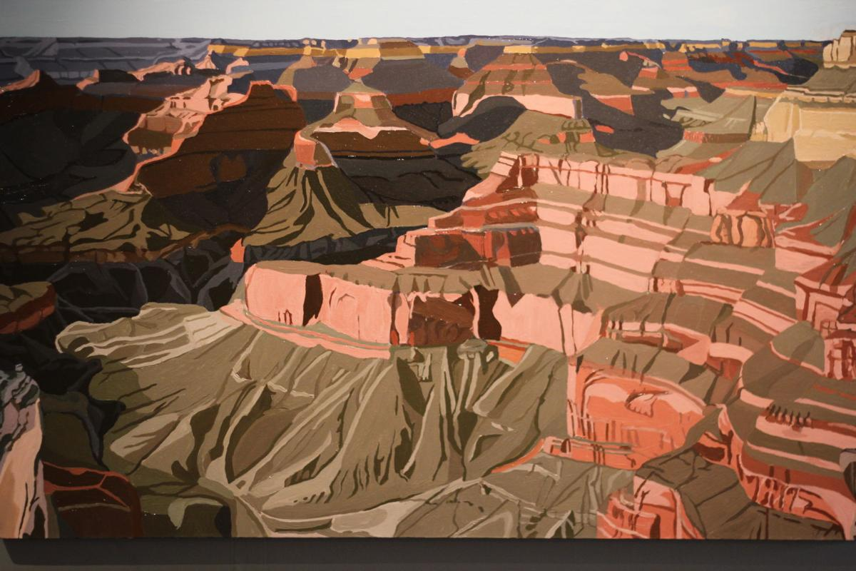 Liz Roth's 2011 painting, 'Monument Creek.' Photos by Diandra Markgraf