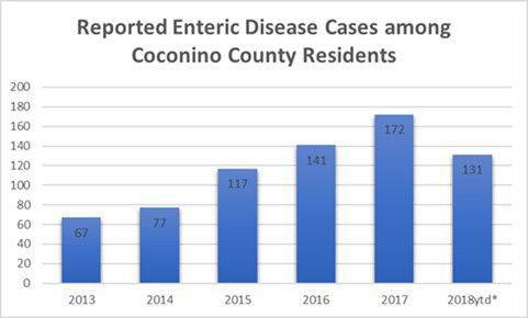 Enteric disease by year