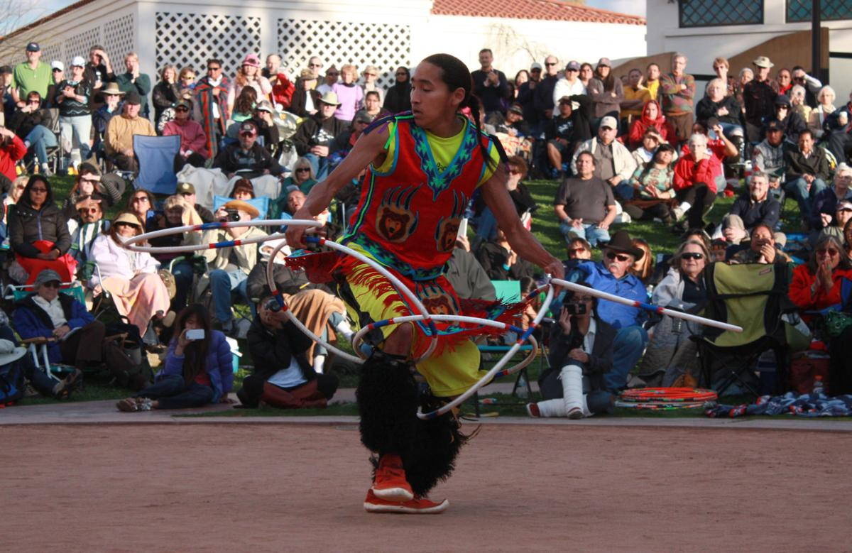 Nakotah LaRance defends his title of world champion at the Heard Museum championship. Photo courtesy of the Heard Museum.