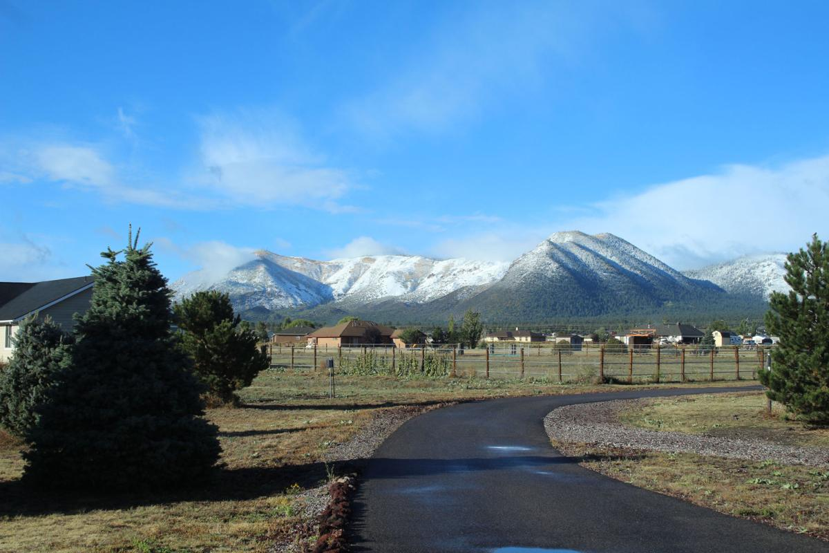 flagstaff gets first snow of season weather