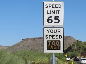 Electronic speed limit signs added on I-17