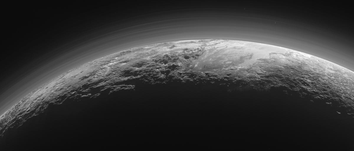 Pluto surface