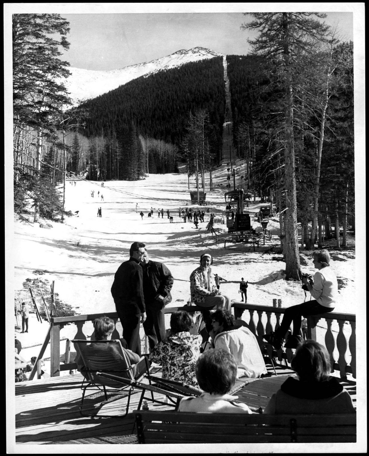 1968: The view from the deck at the Ski Lift Lodge
