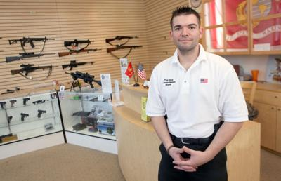 Phillip Scavo Stands In The 2nd Amendment Store Wednesday Morning Scavo Os The Owner Of Flagstaffs Newest Gun Store Jake Bacon Arizona Daily Sun