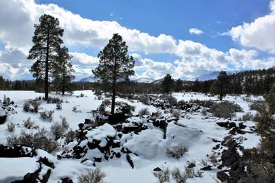 SUNSET CRATER IN WINTER