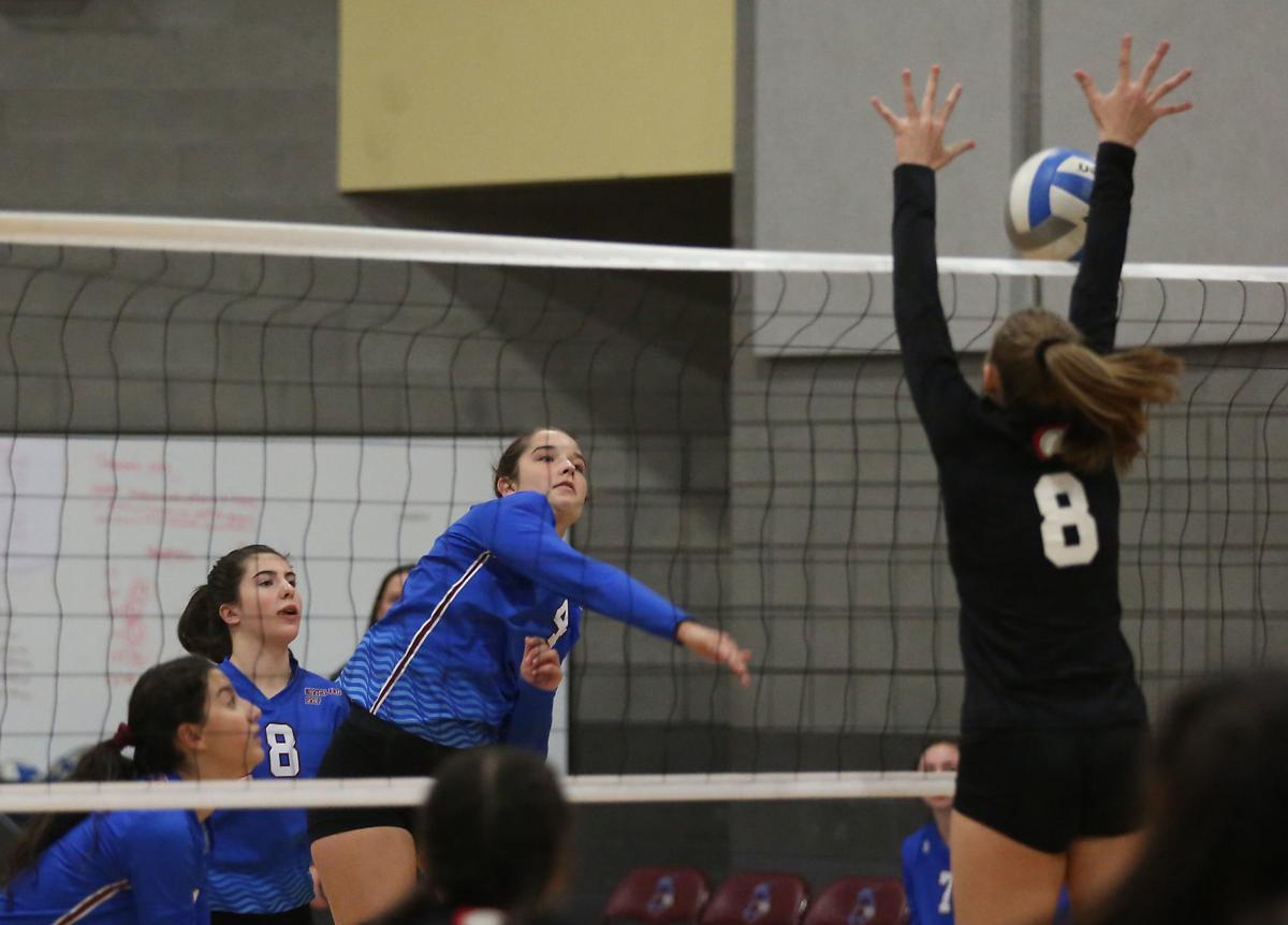 Northland Prep Volleyball versus Leading Edge Academy