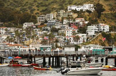 Avalon, Calif., on Catalina Island, a popular tourist destination, is closed to visitors amid the coronavirus pandemic.