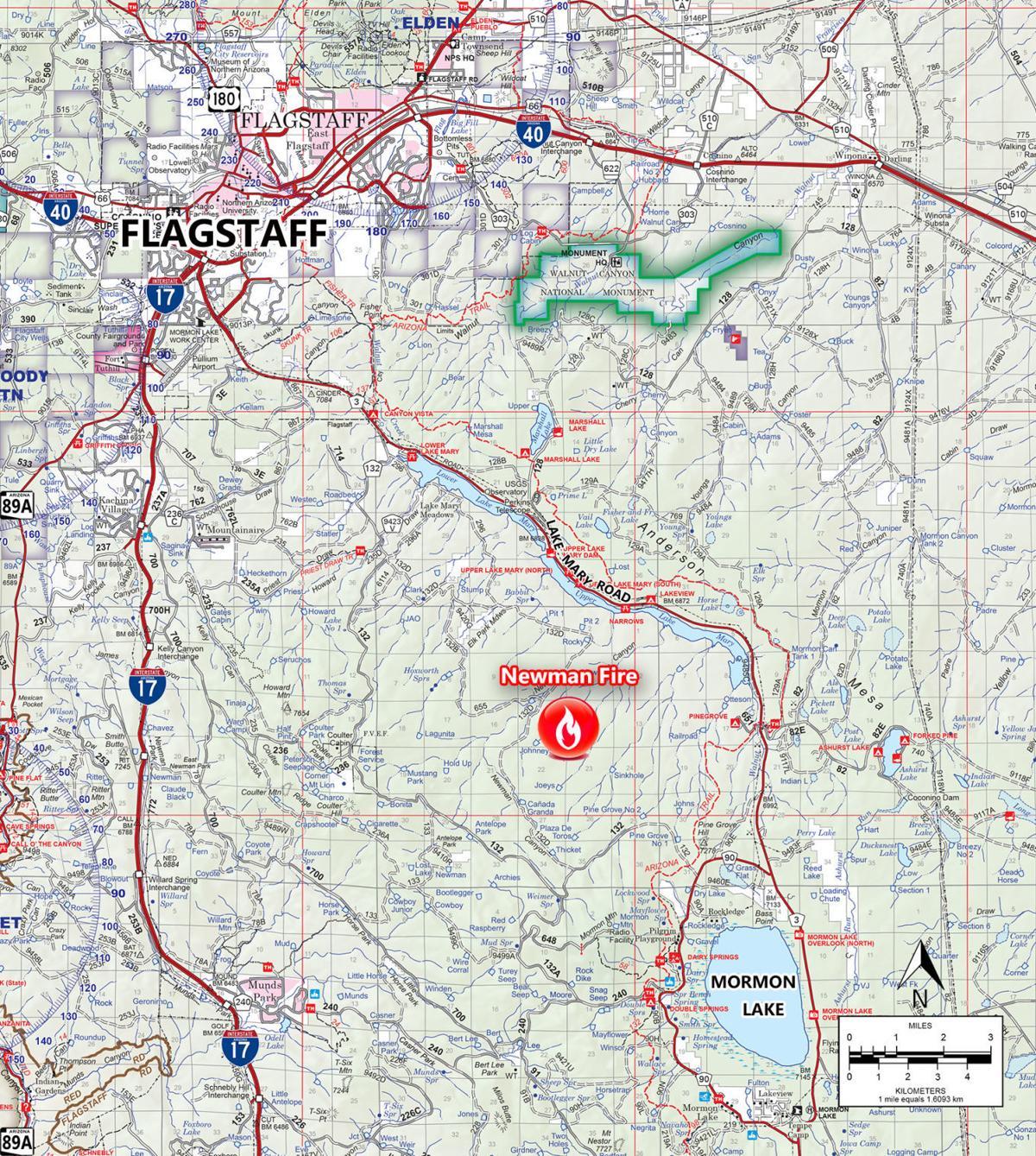 Newman Fire map