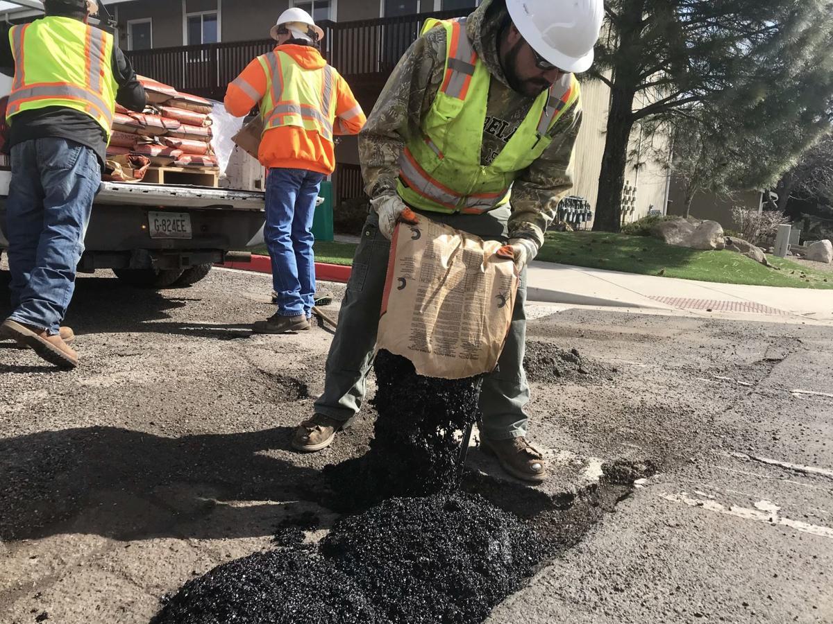 Filling potholes